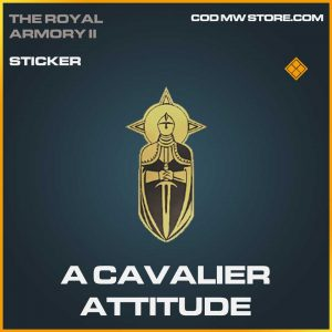 A Cavalier Attitude Legendary Sticker Call of Duty Modern Warfare Item