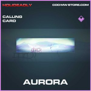 Aurora Calling card epic call of duty modern warfare item