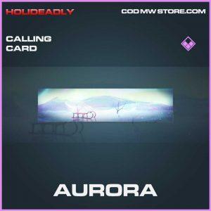 Aurora Calling card epic call of duty modern warfare item