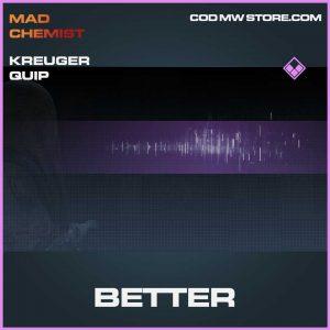Better Kreuger quip epic call of duty modern warfare item