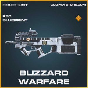 Blizzard warfare P90 skin legendary blueprint call of duty modern warfare item