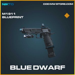 Blue Dwarf legendary m1911 skin call of duty modern warfare