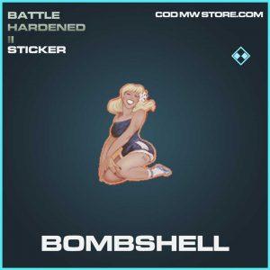 bombshell rare sticker call of duty modern warfaren item