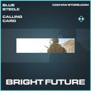 Bright Future rare calling card call of duty modern warfare item