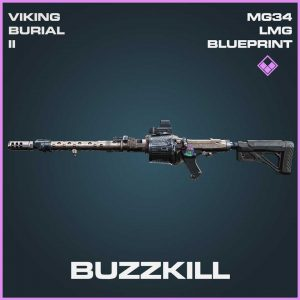 Buzzkill MG34 LMG Blueprint Epic Blueprint Call of Duty Modern Warfare