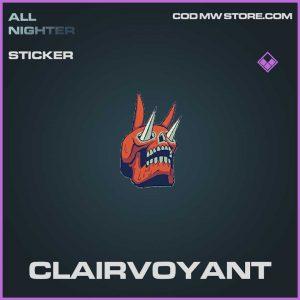 clairvoyant epic sticker call of duty modern warfare item