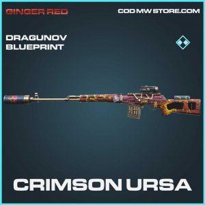 Crimson Ursa Dragunov Skin call of duty modern warfare skin