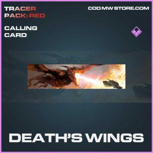 Death's Wings epic calling card call of duty modern warfare item