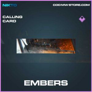embers epic calling card call of duty modern warfare item