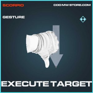 Execute Target Rare Gesture Call of Duty Modern Warfare Item