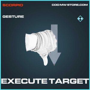 Execute Target Rare Gesture Call of Duty Modern Warfare Item