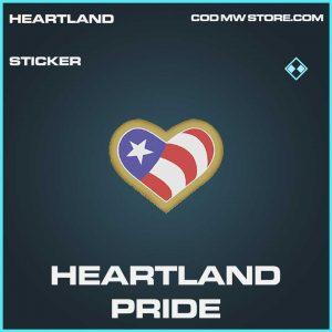 Heartland Pride rare sticker call of duty modern warfare item