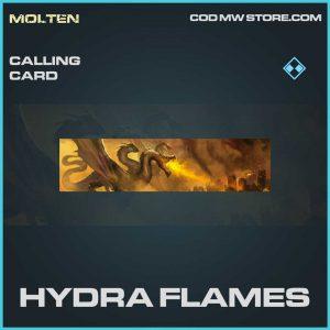 Hydra Flames rare calling card Call of Duty Modern Warfare item