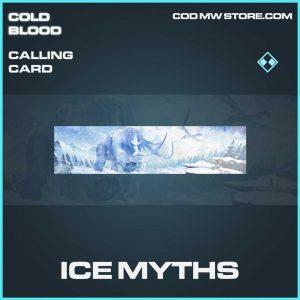 ice myths rare calling card call of duty Modern Warfare item
