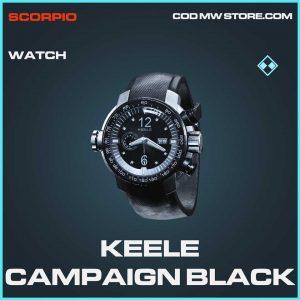 Keele Campaign Black rare watch Call of Duty Modern Warfare Item