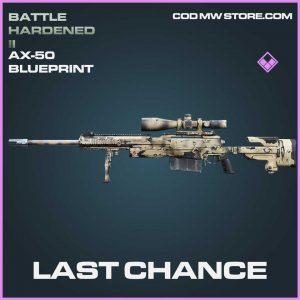 Last chance ax-50 epic blueprint call of duty modern warfaren item