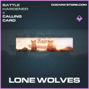 lone wolves epic calling card call of duty modern warfaren item