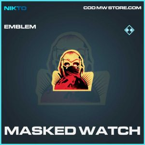 masked watch emblem watch call of duty modern warfare item