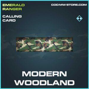 Modern woodland rare calling card