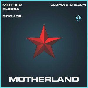 motherland sticker rare call of duty modern warfare mother russia item