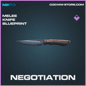 negotiation melee knife epic blueprint call of duty modern warfare skin