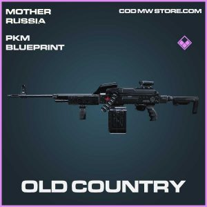 old country pkm blueprint skin call of duty modern warfare mother russia item