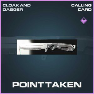 Point taken epic calling card Call of Duty Modern Warfare Item Bundle