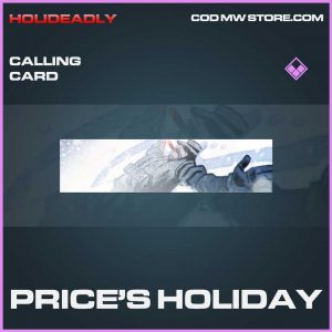 Price's Holiday Epic calling card call of duty modern warfare item