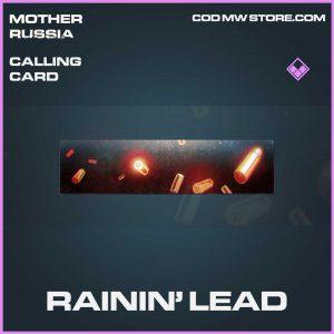 Rainin' Lead calling card epic call of duty modern warfare mother russia item
