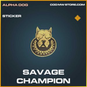 Savage Champion Legendary Sticker Call of Duty Modern Warfare Item