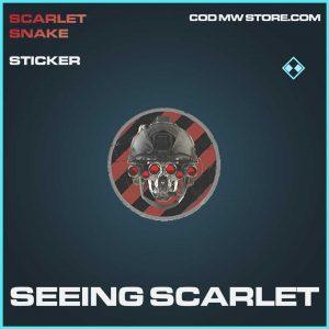Seeing Scarlet rare sticker call of duty modern warfare item