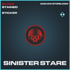 Sinister Stare rare sticker call of duty modern warfare item