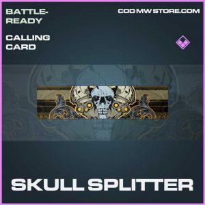 Skull Splitter Epic Calling Card Call of Duty Modern Warfare Item