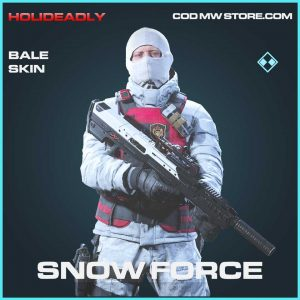 Snow Force bale rare operator skin call of duty modern warfare item