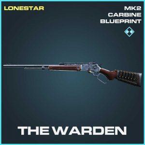 The Warden Carbine rare skin Call of Duty Modern Warfare