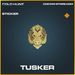 tusker stiker legendary call of duty modern warfare item