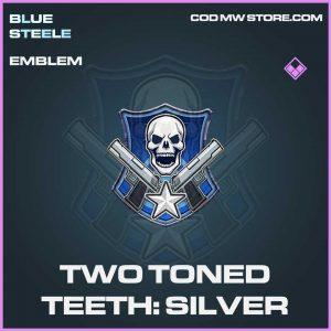 Two Toned Teeth Silver Epic Emblem call of duty modern warfare item