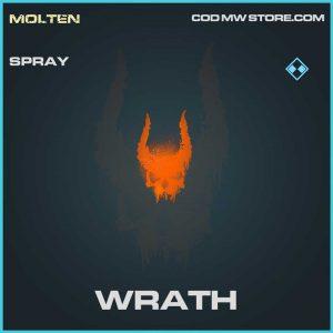 Wrath rare spray Call of Duty Modern Warfare item
