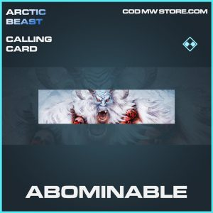 Abominable rare calling card call of duty modern warfare item