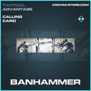 Banhammer calling card rare call of duty modern warfare item