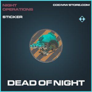 dead of night sticker rare call of duty modern warfare item