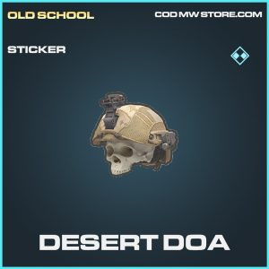Desert DOA sticker rare call of duty modern warfare item