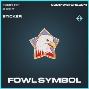 fowl symbol sticker rare call of duty modern warfare item