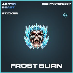 Frost Burn rare sticker call of duty modern warfare item