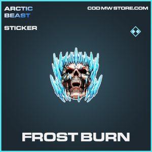 Frost Burn rare sticker call of duty modern warfare item