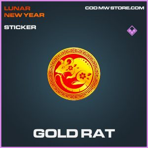 Gold Rat sticker epic call of duty modern warfare item
