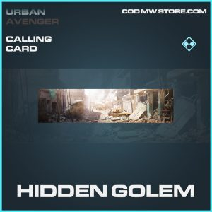 hidden golem rare calling card call of duty modern warfare item