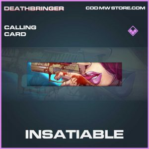 Insatiable epic calling card call of duty modern warfare item