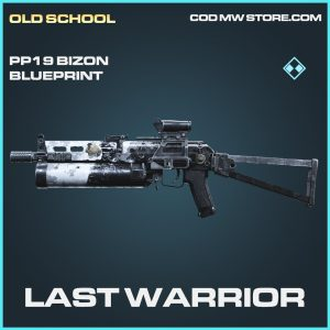 Last Warrior PP19 Bizon skin blueprint rare call of duty modern warfare item