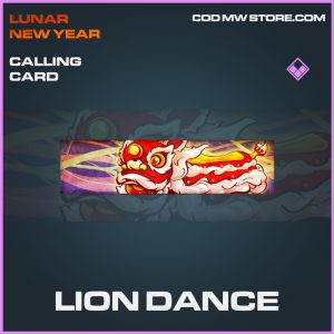 Lion dance calling card epic call of duty modern warfare item